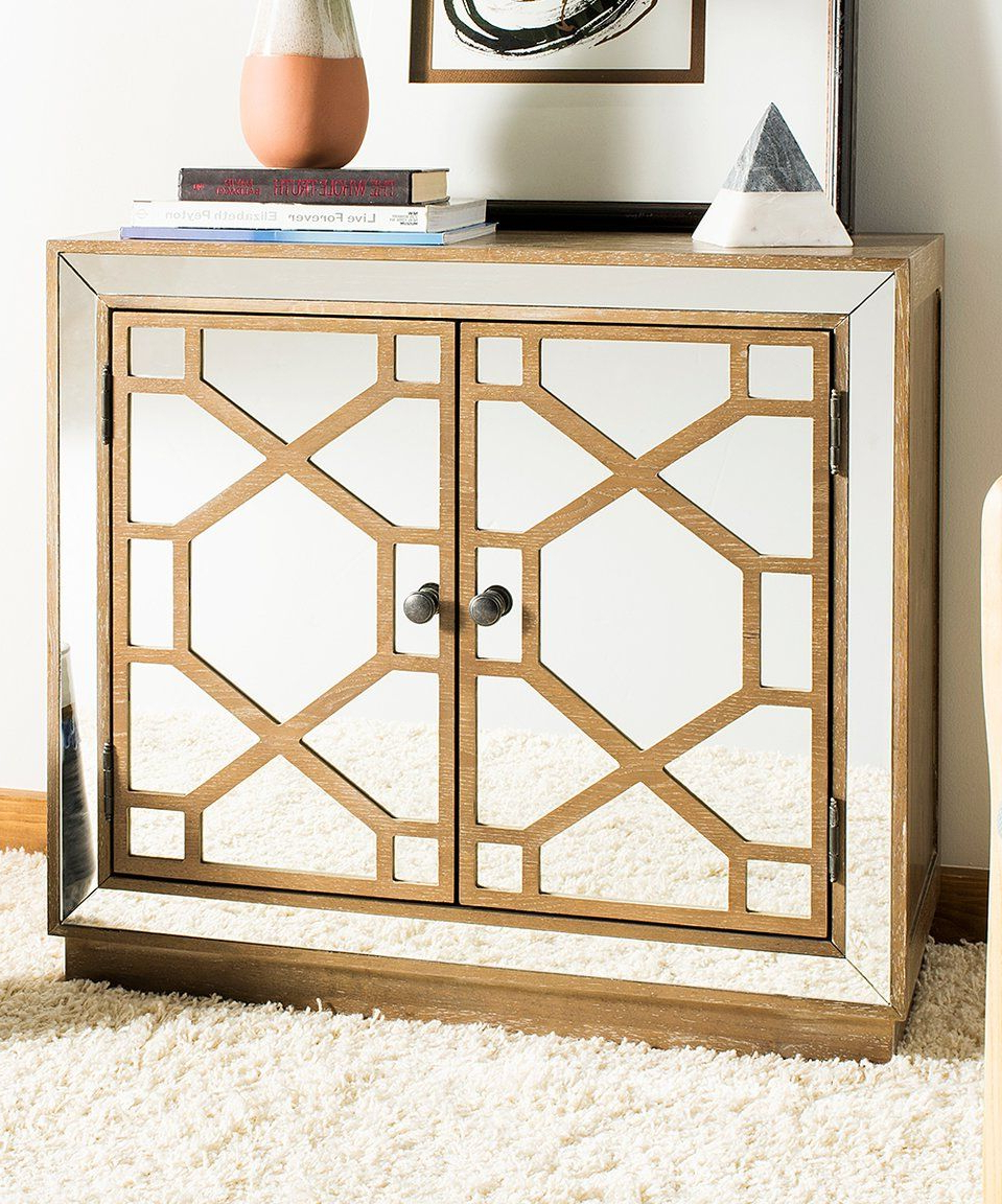Take A Look At This Juniper Two Door Mirrored Chest Today In Mirrored Double Door Buffets (View 17 of 20)
