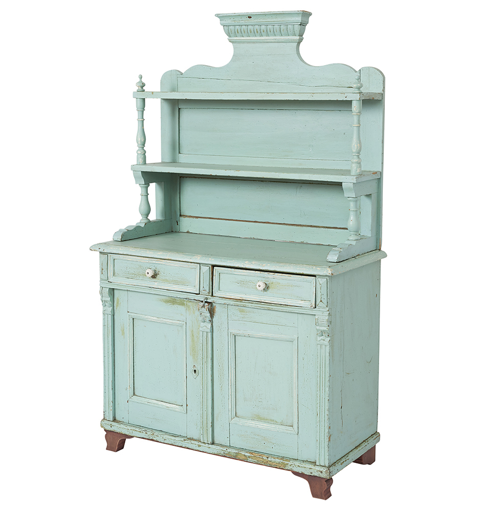 Tall Victorian Sideboard W/ Rustic Turquoise Blue Paint With Turquoise Skies Credenzas (View 18 of 20)