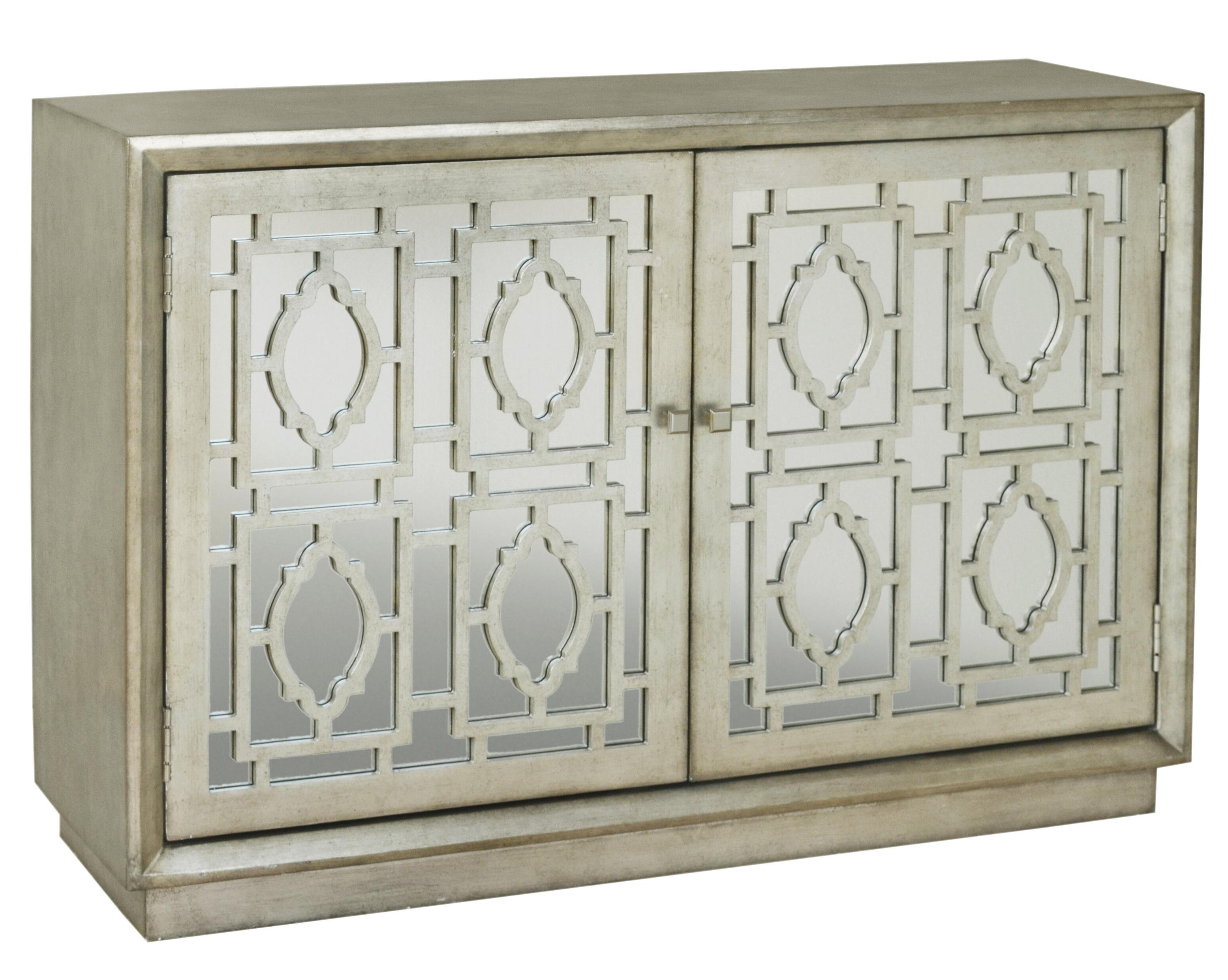 Talley 2 Door Credenza Accent Cabinet With Exagonal Geometry Credenzas (View 17 of 20)