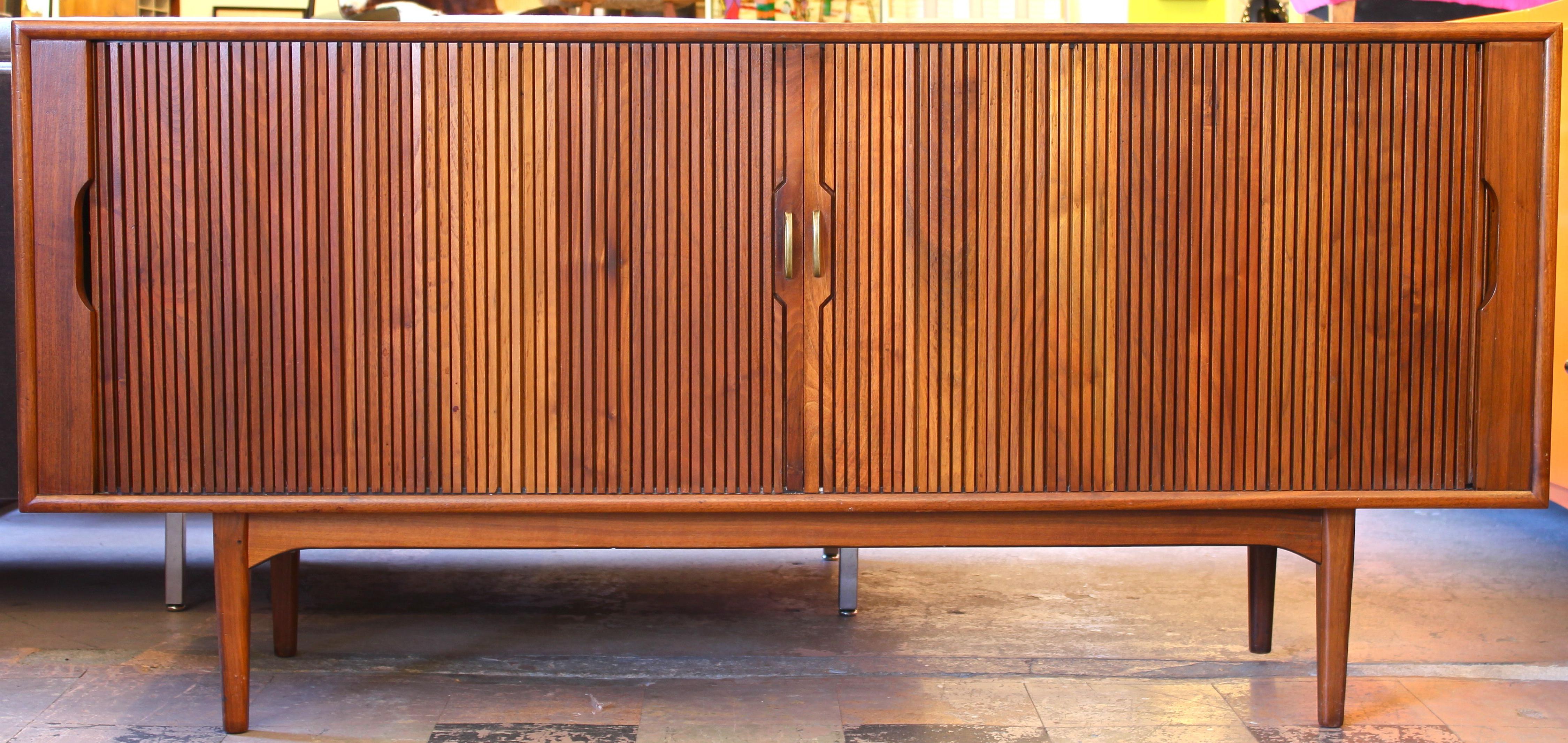 Tambour Door Buffet/sideboardkipp Stewart – Tambour Door Within Modern Mid Century Buffets (View 20 of 20)