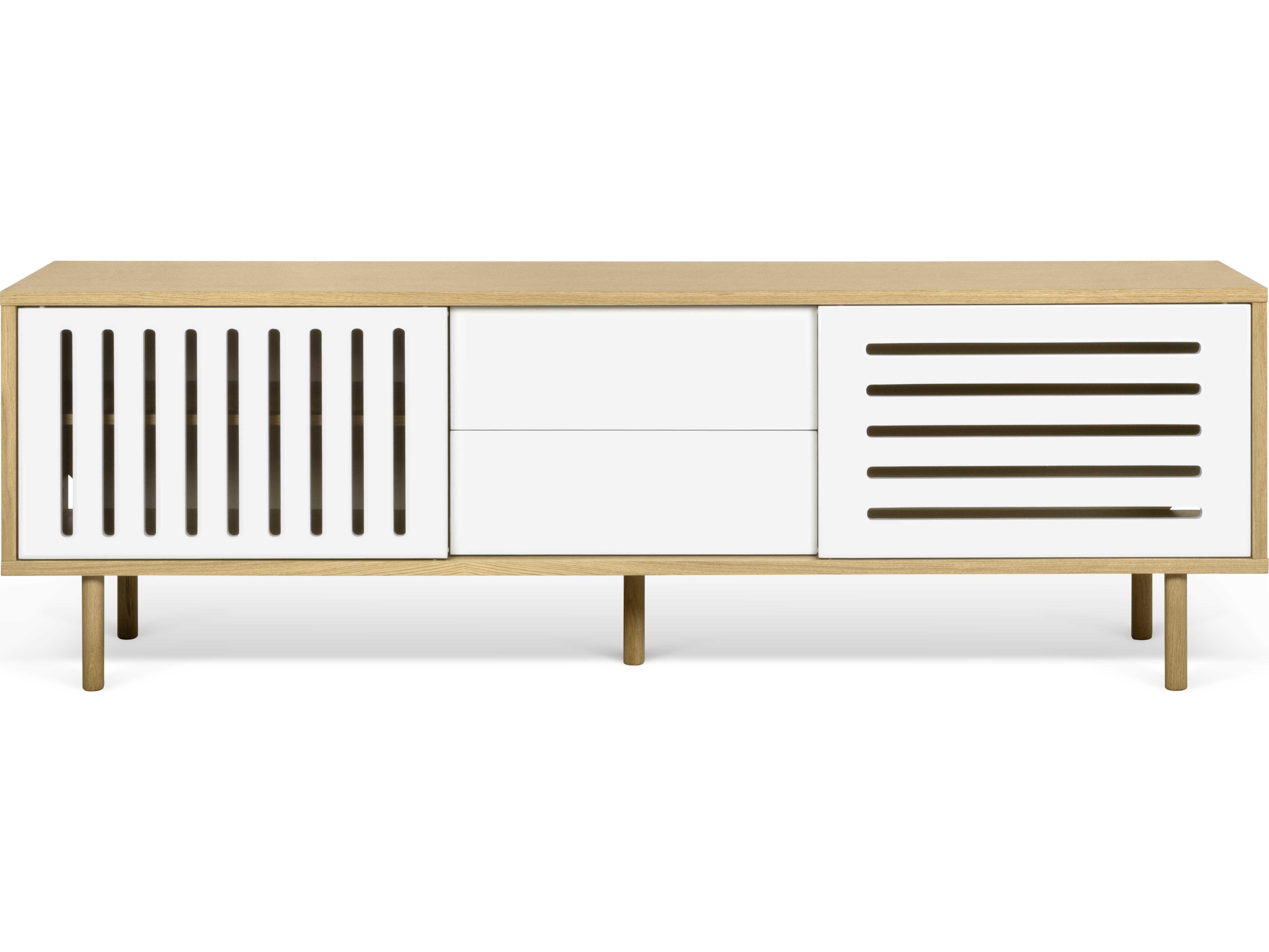 Temahome Dann Oak / Pure White / Oak Feet Sideboard With Regard To Light White Oak Two Tone Modern Buffets (View 18 of 20)