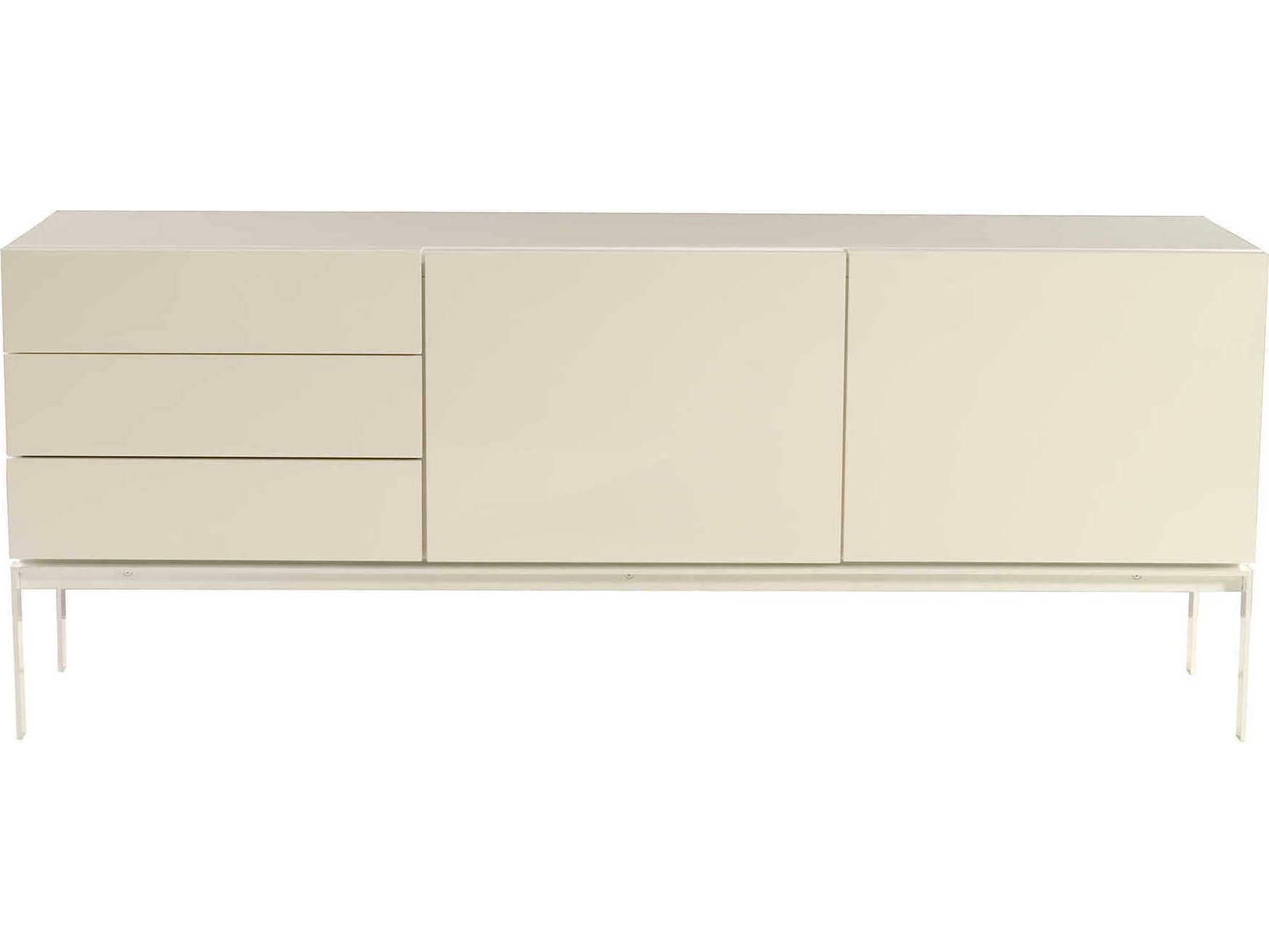 Temahome Glare High Gloss White Rectangular Buffet In 2019 With White Wood And Chrome Metal High Gloss Buffets (View 13 of 20)