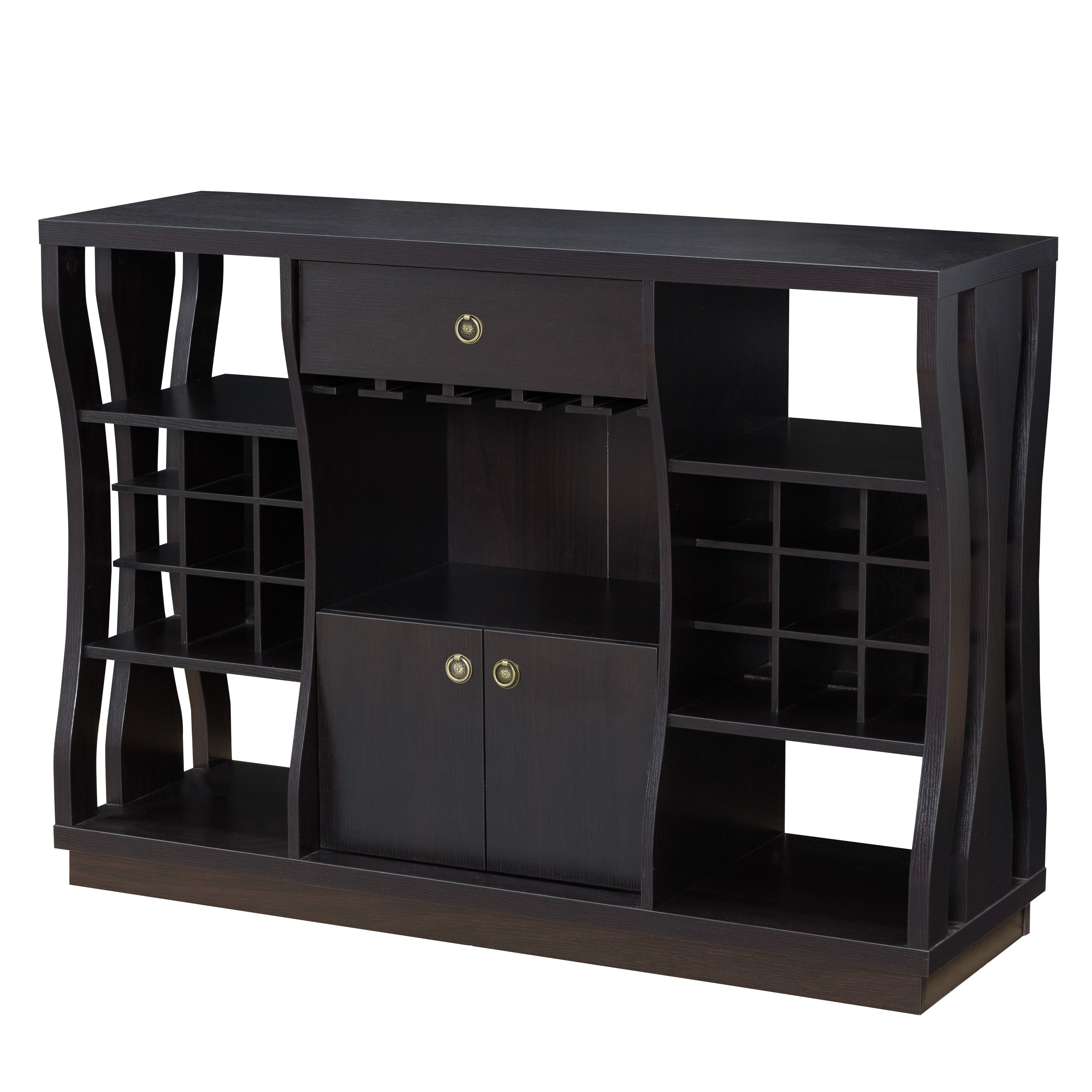 Terrena Modern Cappuccino Open Storage Dining Buffetfoa For Modern Cappuccino Open Storage Dining Buffets (View 14 of 20)