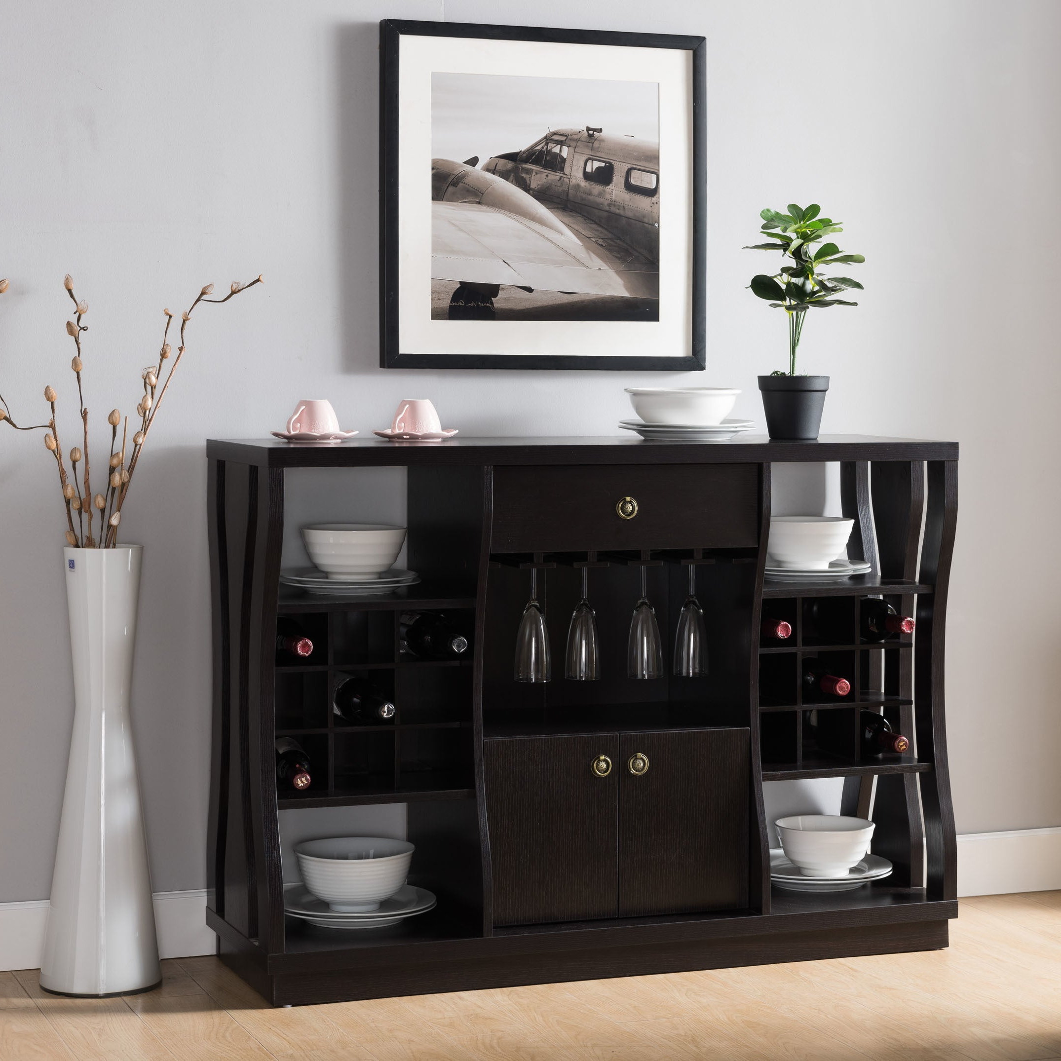 Featured Photo of Modern Cappuccino Open Storage Dining Buffets