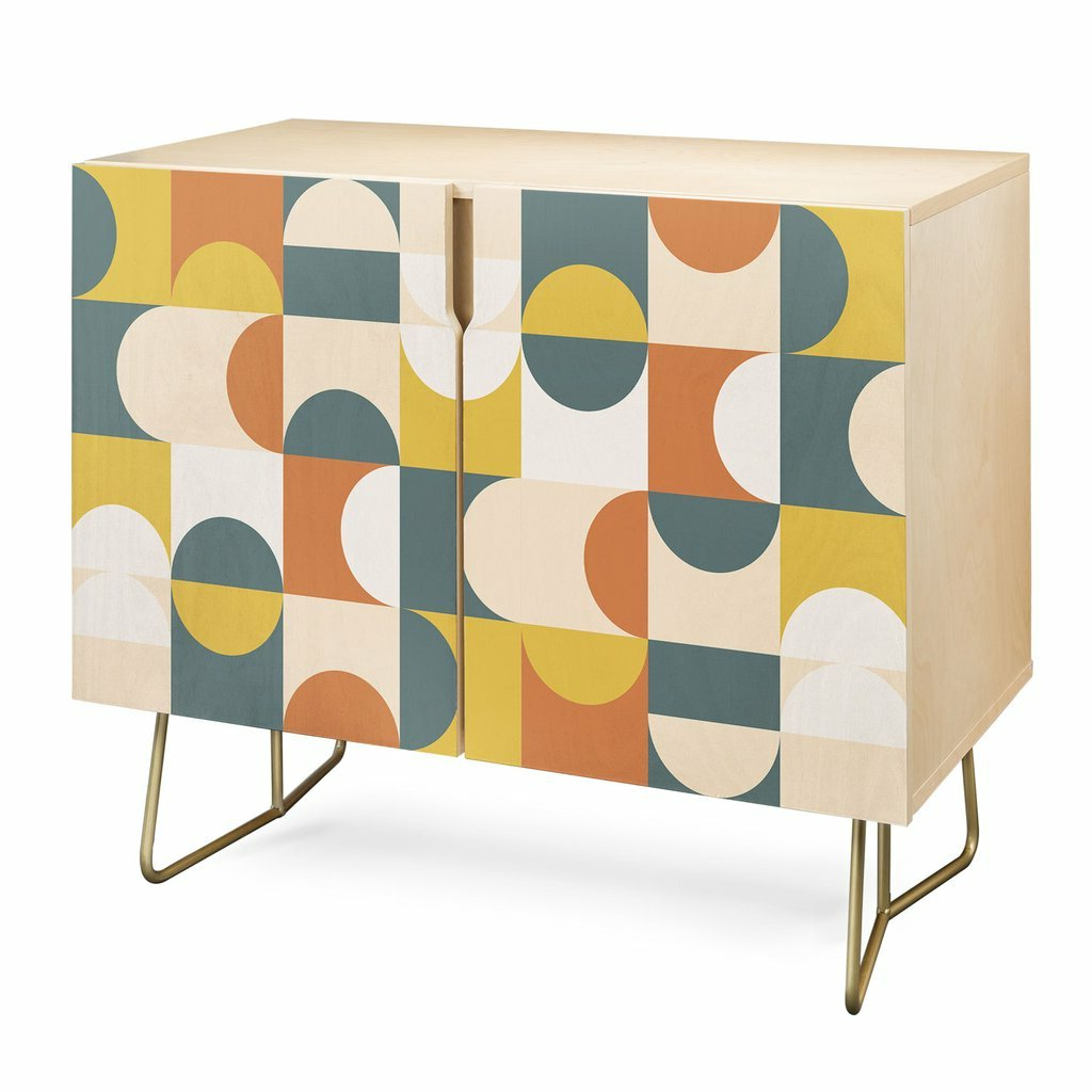 The Old Art Studio Geometric 23 Accent Cabinet For Modele 7 Geometric Credenzas (View 17 of 20)