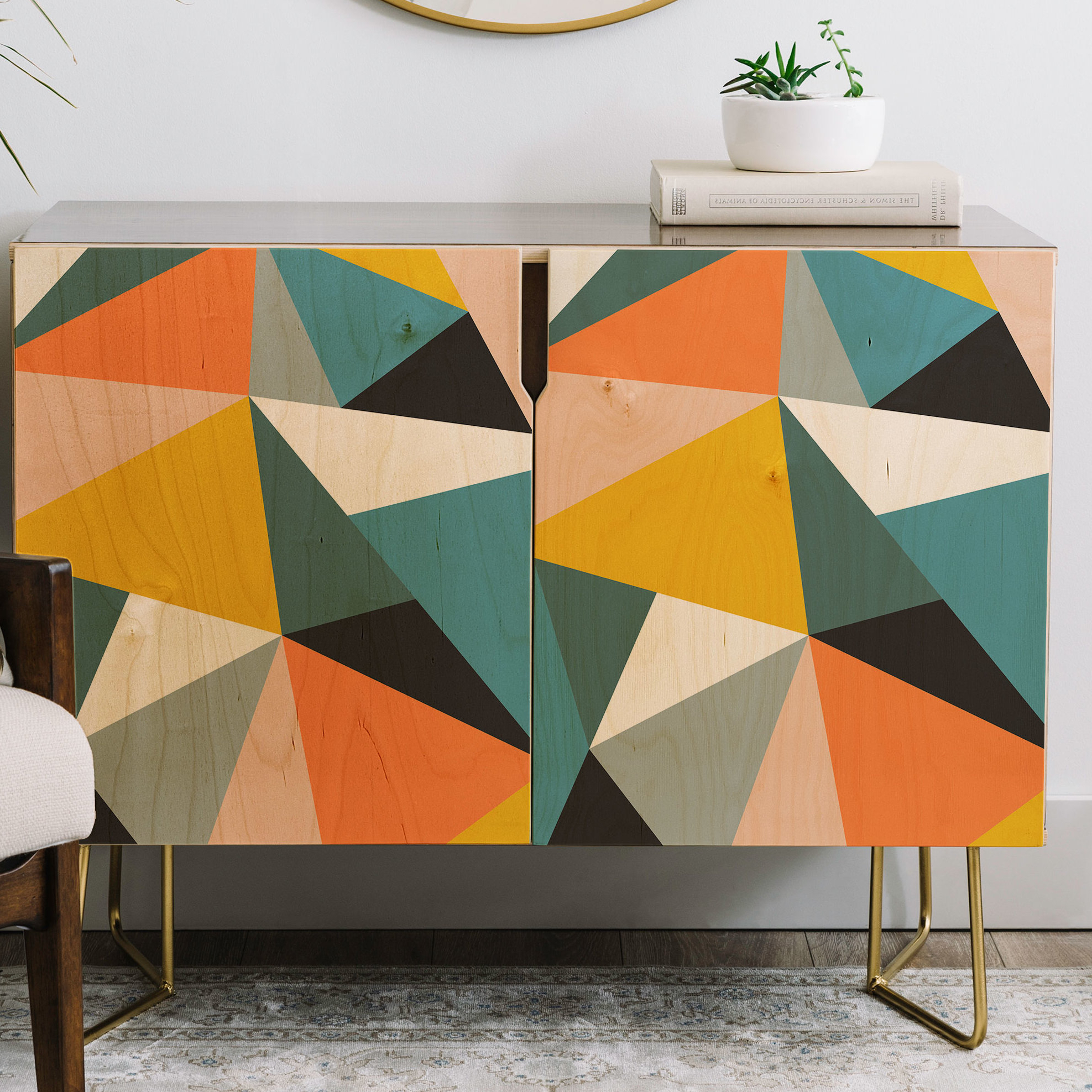 The Old Art Studio Modern Geometric Credenza For Multi Colored Geometric Shapes Credenzas (View 19 of 20)