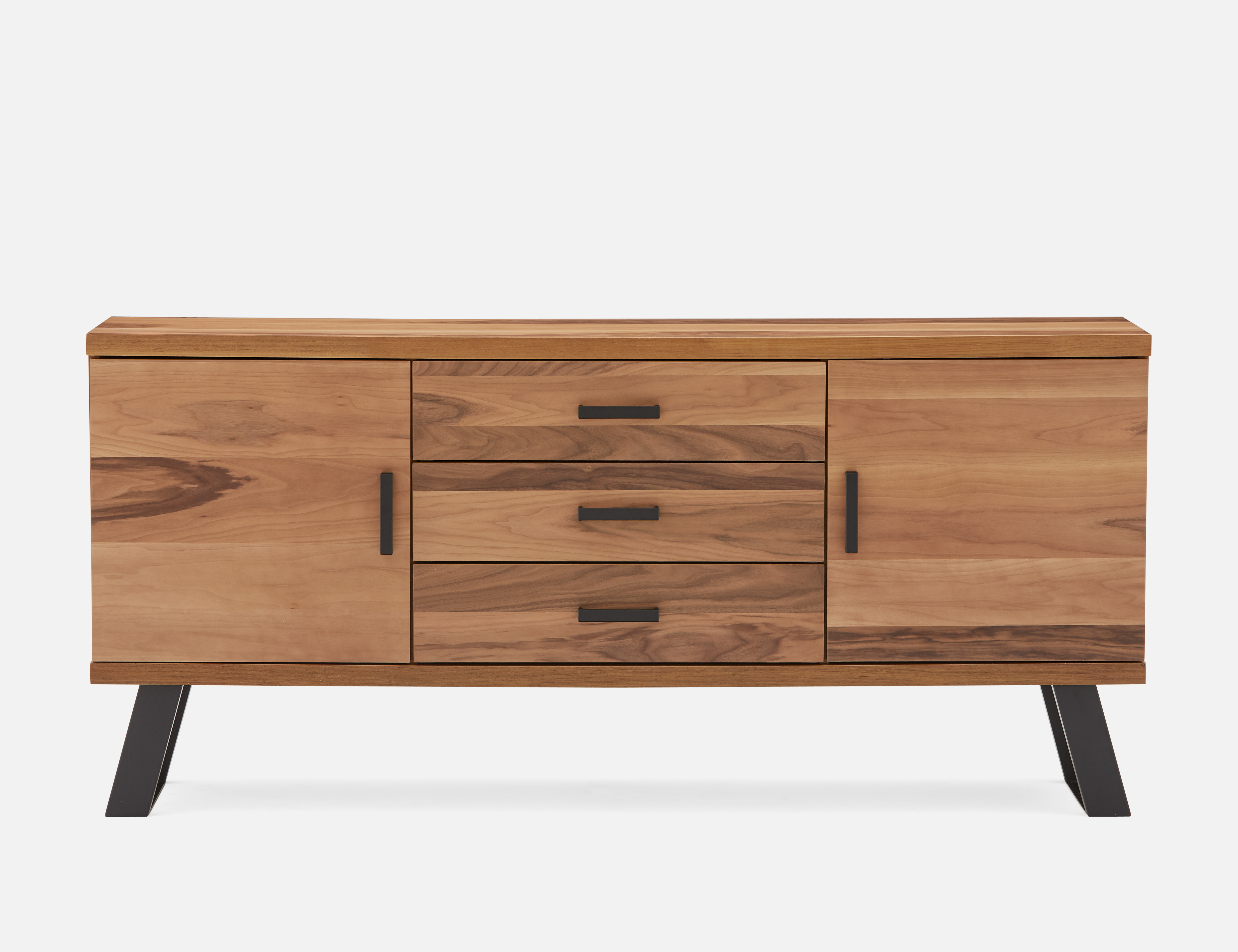 Tish Dark Walnut Walnut Veneer Sideboard In 2019 | Products Regarding Line Geo Credenzas (View 20 of 20)