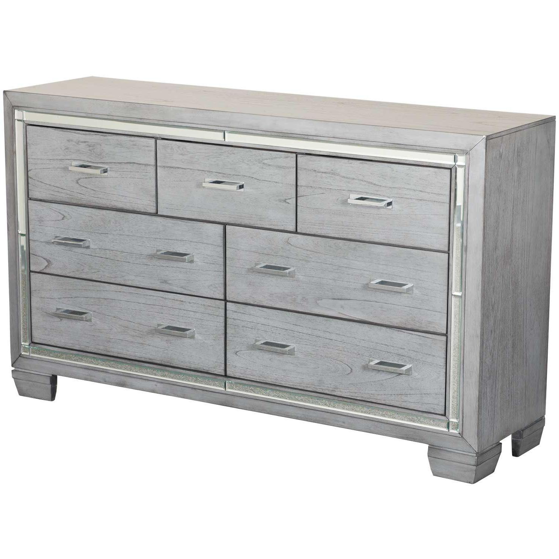 Titanium 7 Drawer Dresser Throughout 3 Drawer Titanium Buffets (View 5 of 20)