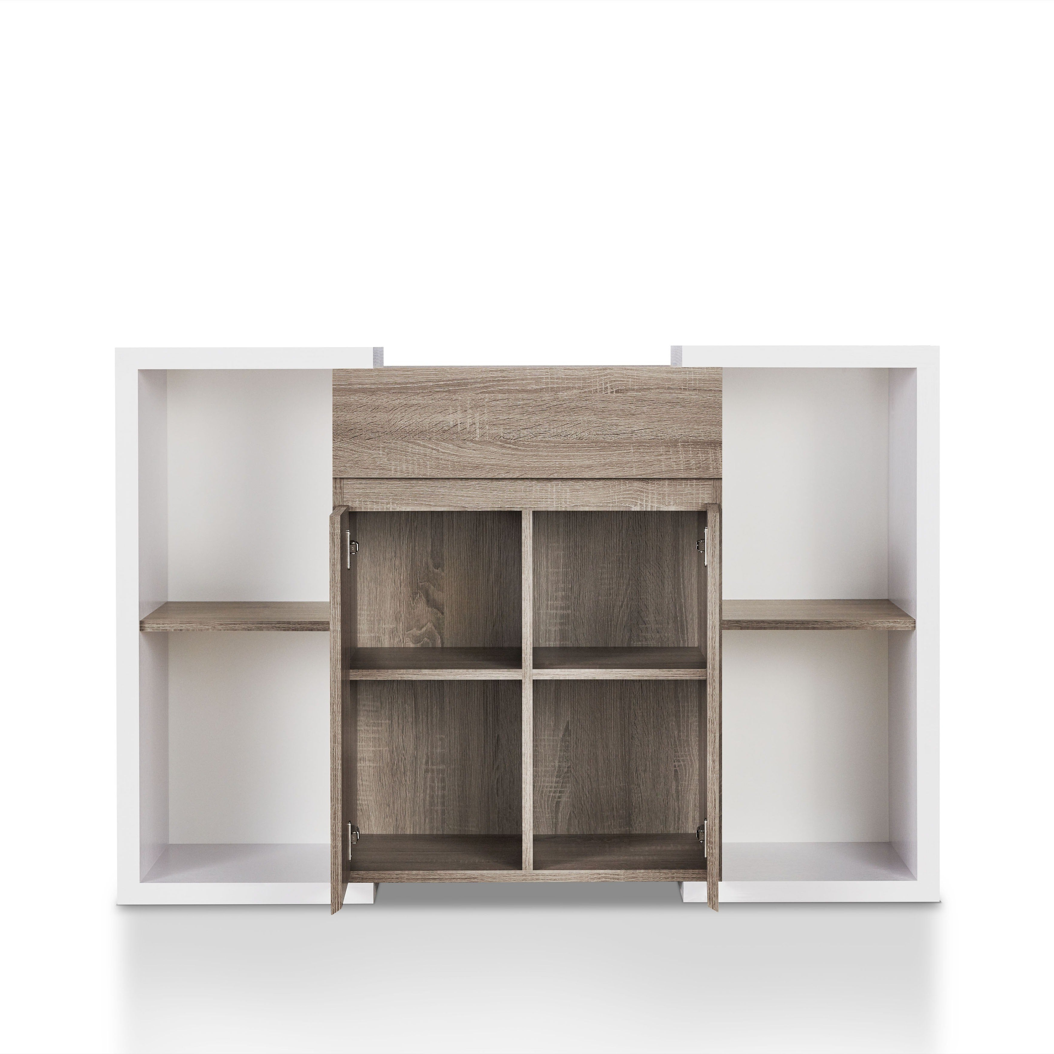 Togal Contemporary White/light Oak Dining Buffetfoa With Togal Contemporary White/light Oak Dining Buffets (View 19 of 20)