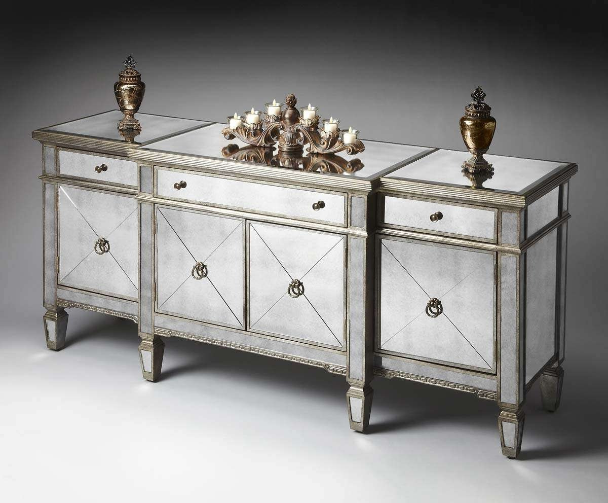 Top 20 Of Mirrored Sideboards And Buffets Queens Buffet With Regard To Mirrored Buffets (View 12 of 20)