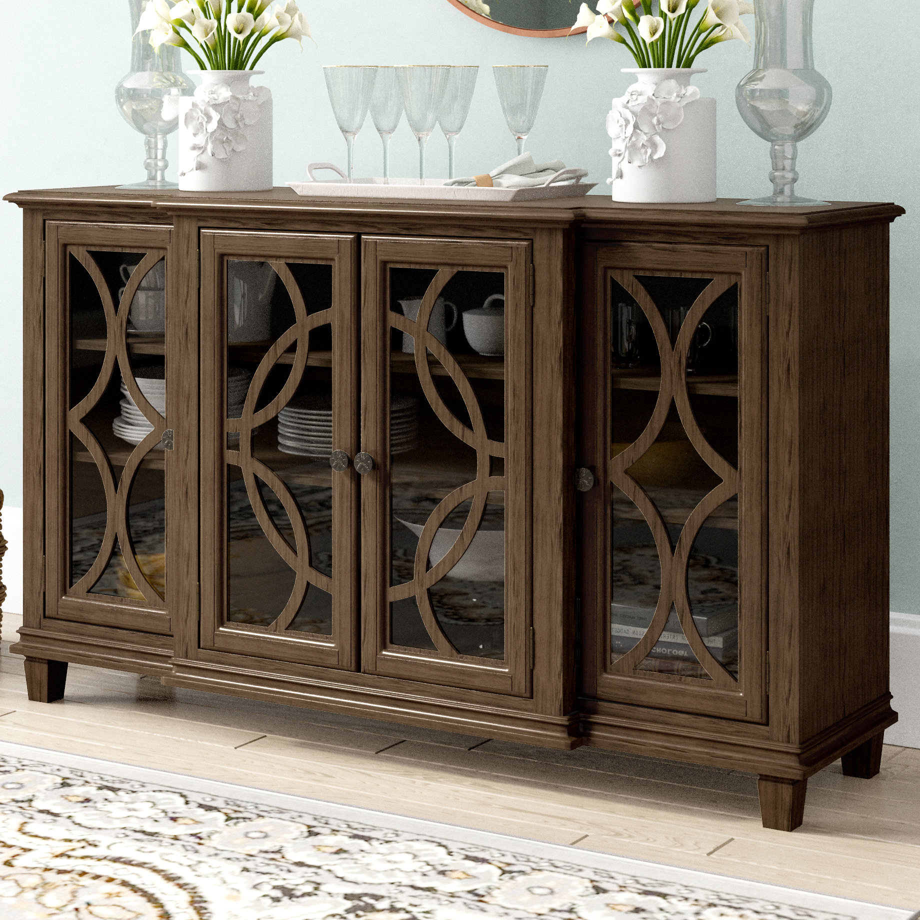 Transitional Buffet | Wayfair Intended For Saucedo Rustic White Buffets (View 10 of 20)
