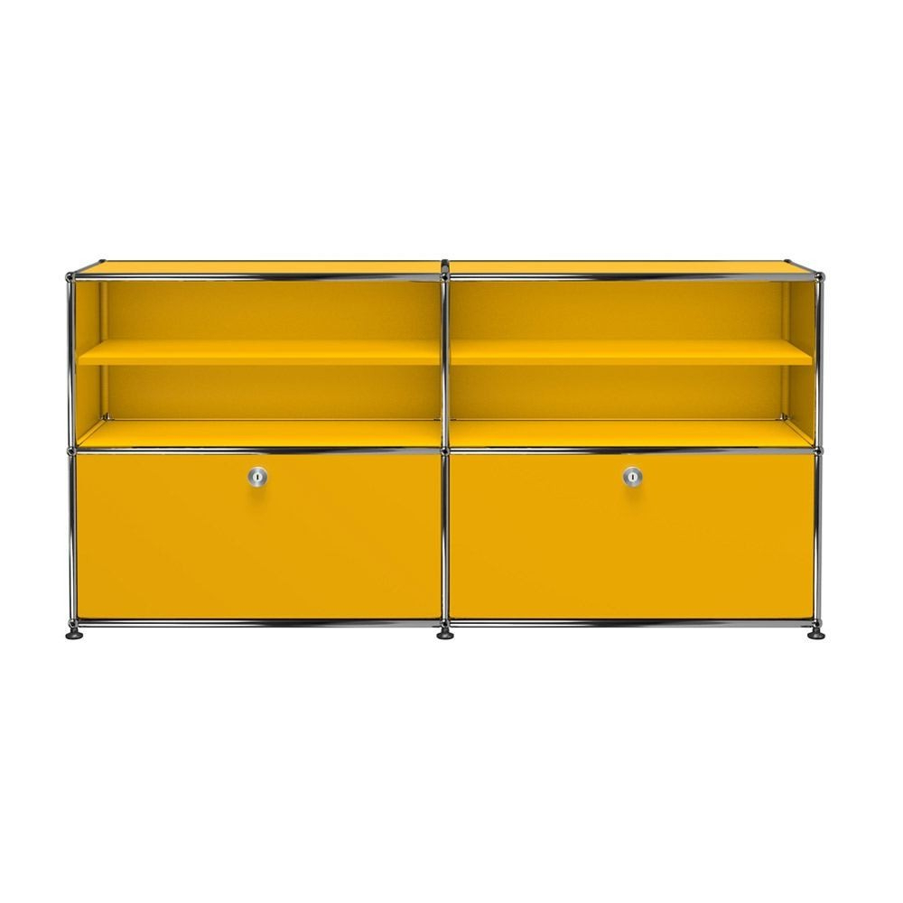 Usm Haller Sideboard C2B – 2 Doors Upper Divider Shelves Metal Within Floral Blush Yellow Credenzas (View 20 of 20)