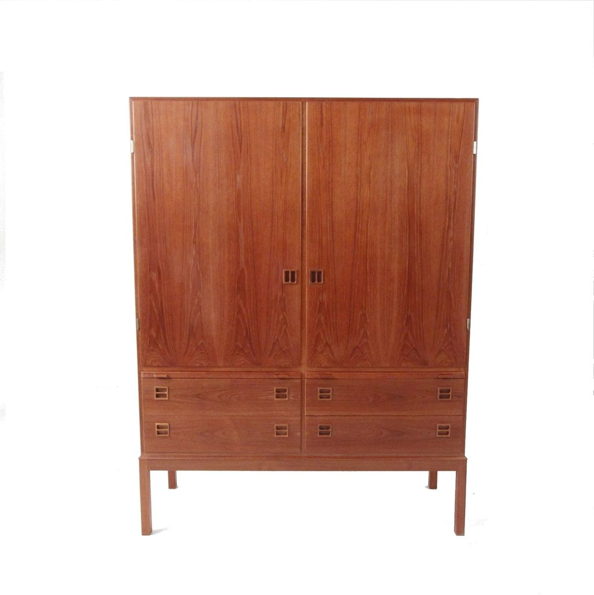 Vintage Danish Modern Teak Veneer Buffet Throughout Modern Teak Buffets (Gallery 14 of 20)