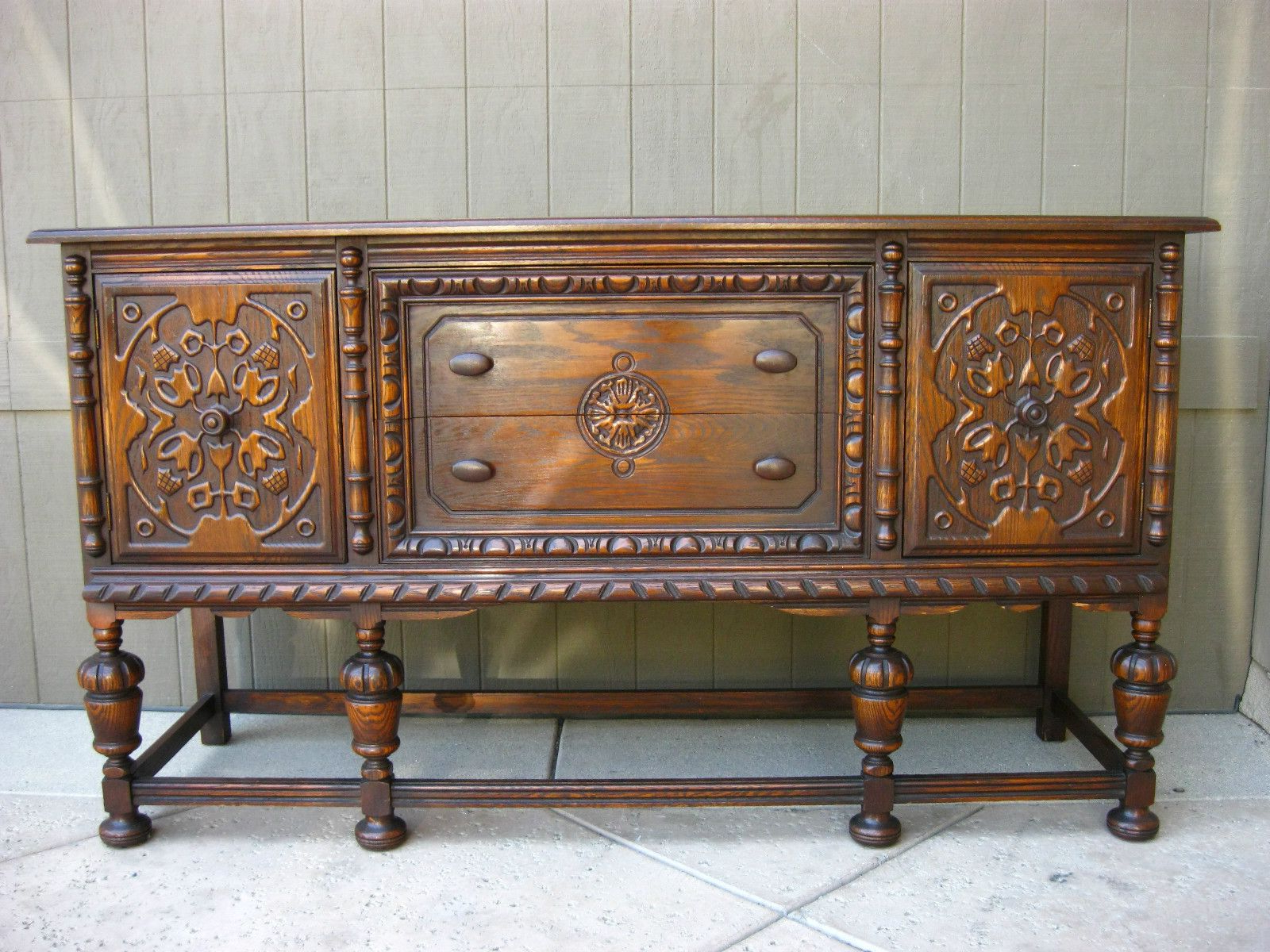 Vintage Spanish Revival Buffet Gorgeous Renaissance Carved Pertaining To Southwestern Credenzas (Gallery 5 of 20)