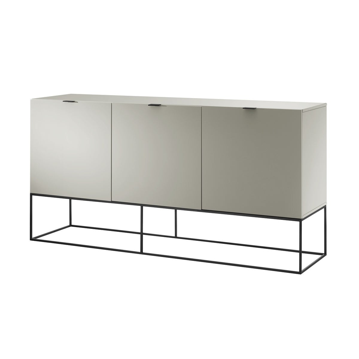 Vizzione High Gloss Light Gray Lacquer Buffetcasabianca Home Throughout White Wood And Chrome Metal High Gloss Buffets (View 18 of 20)