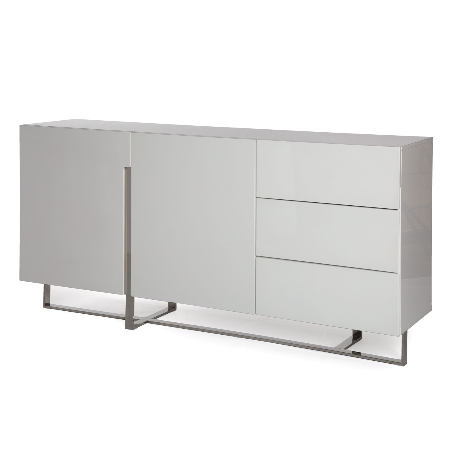 Voco | Sideboard – High Gloss White Throughout White Wood And Chrome Metal High Gloss Buffets (View 5 of 20)