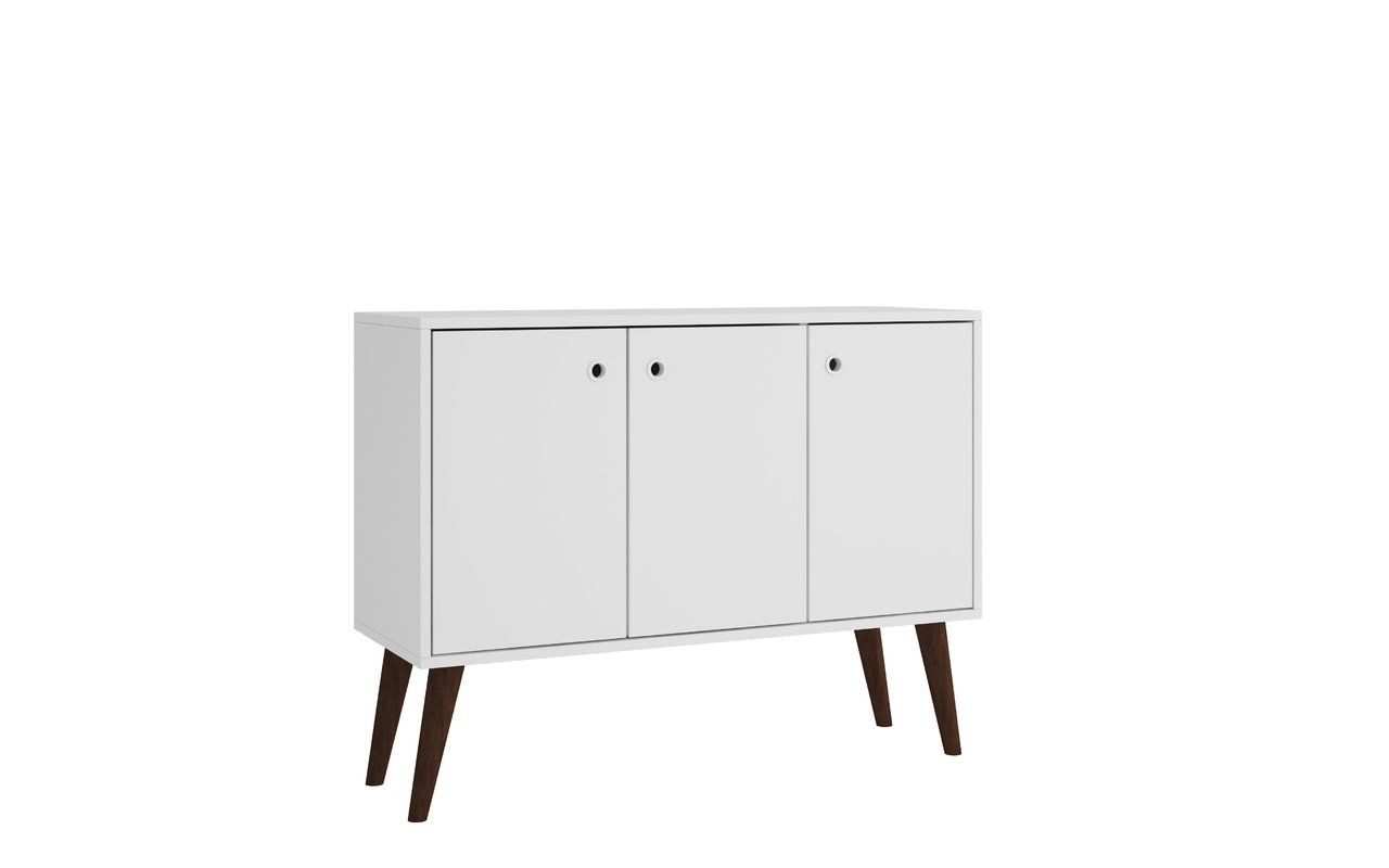 Vreeland Buffet Stand With 3 Shelves And 3 Doors | Storage Within Mid Century 3 Cabinet Buffets (Gallery 8 of 20)