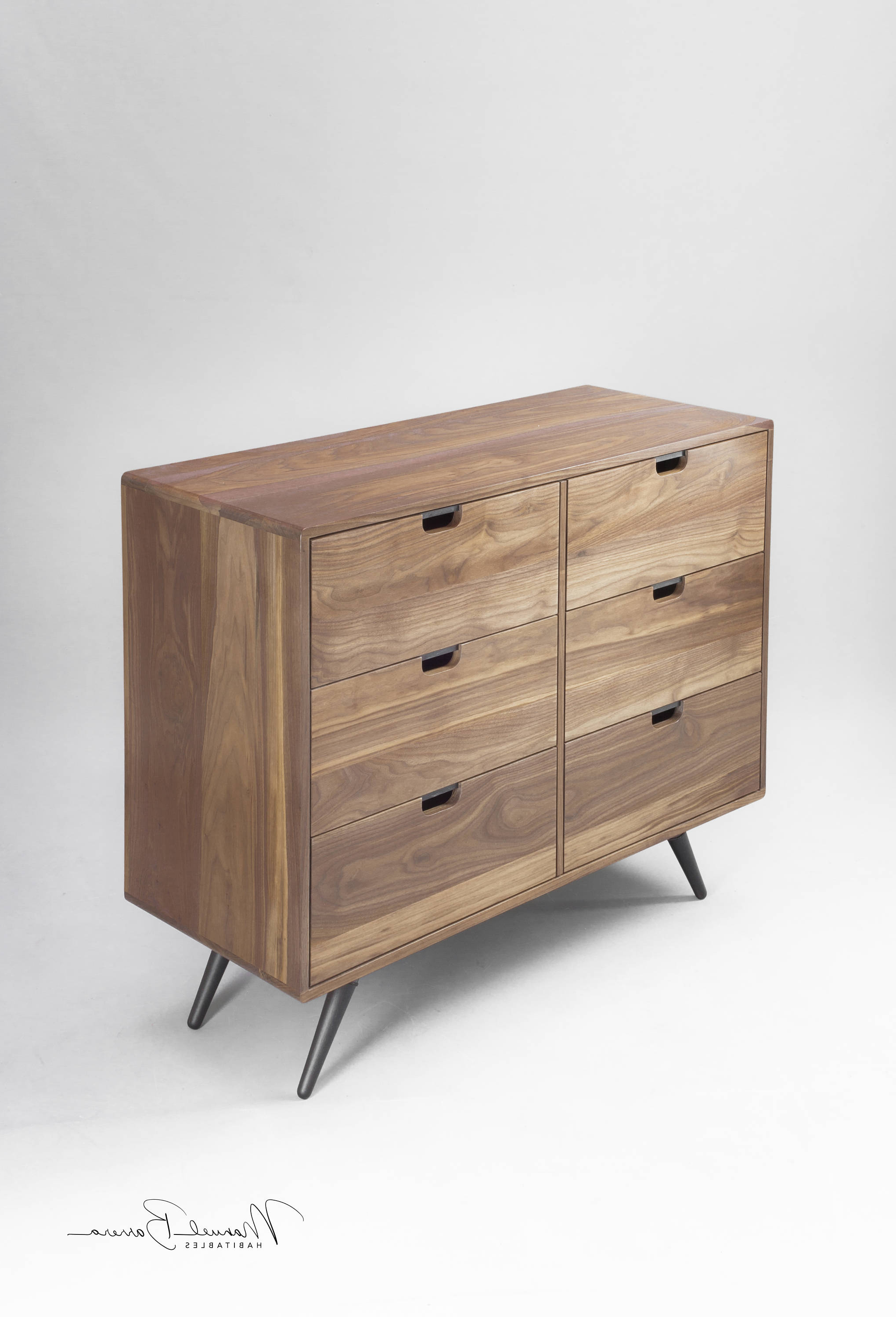Walnut Dresser, Commode, Credenza In Oak / Walnut Solid Intended For Ocean Marble Credenzas (View 20 of 20)