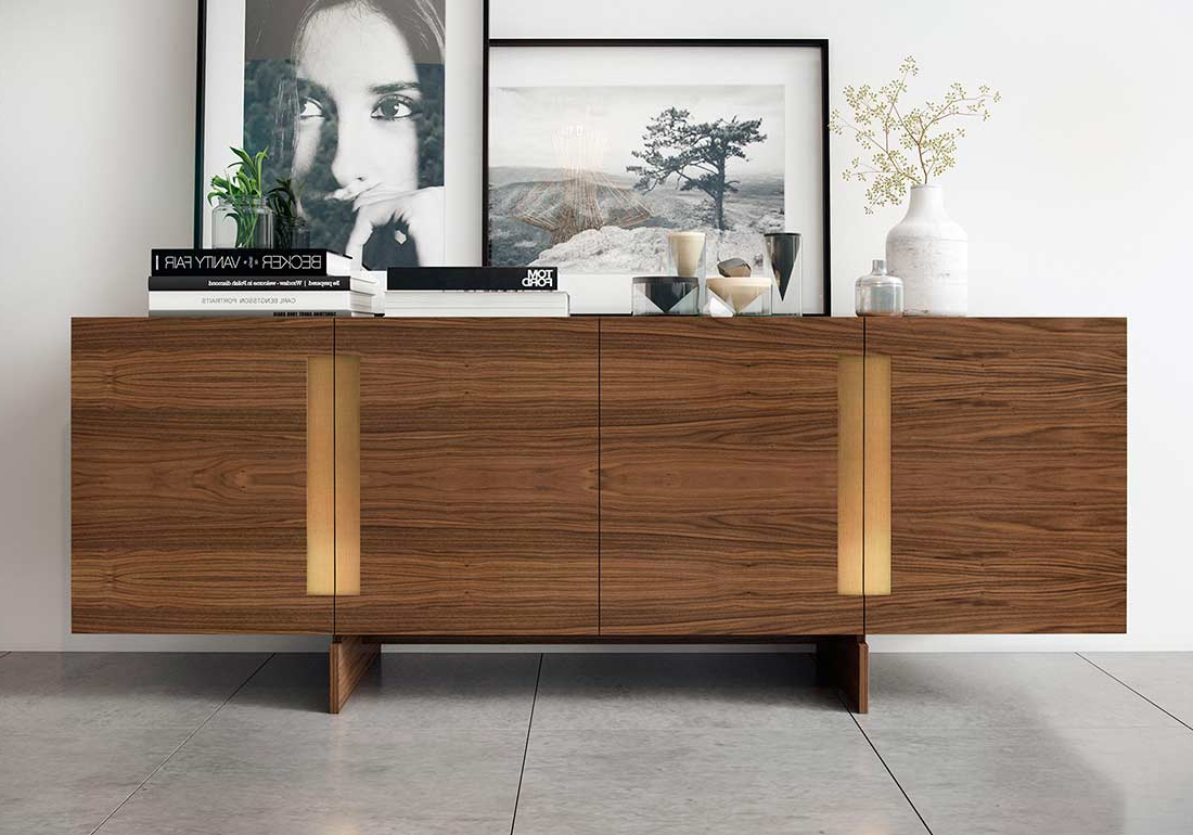 Walnut Sideboard Ml Britton Modern Buffets Stations Within Contemporary Buffets (View 18 of 20)