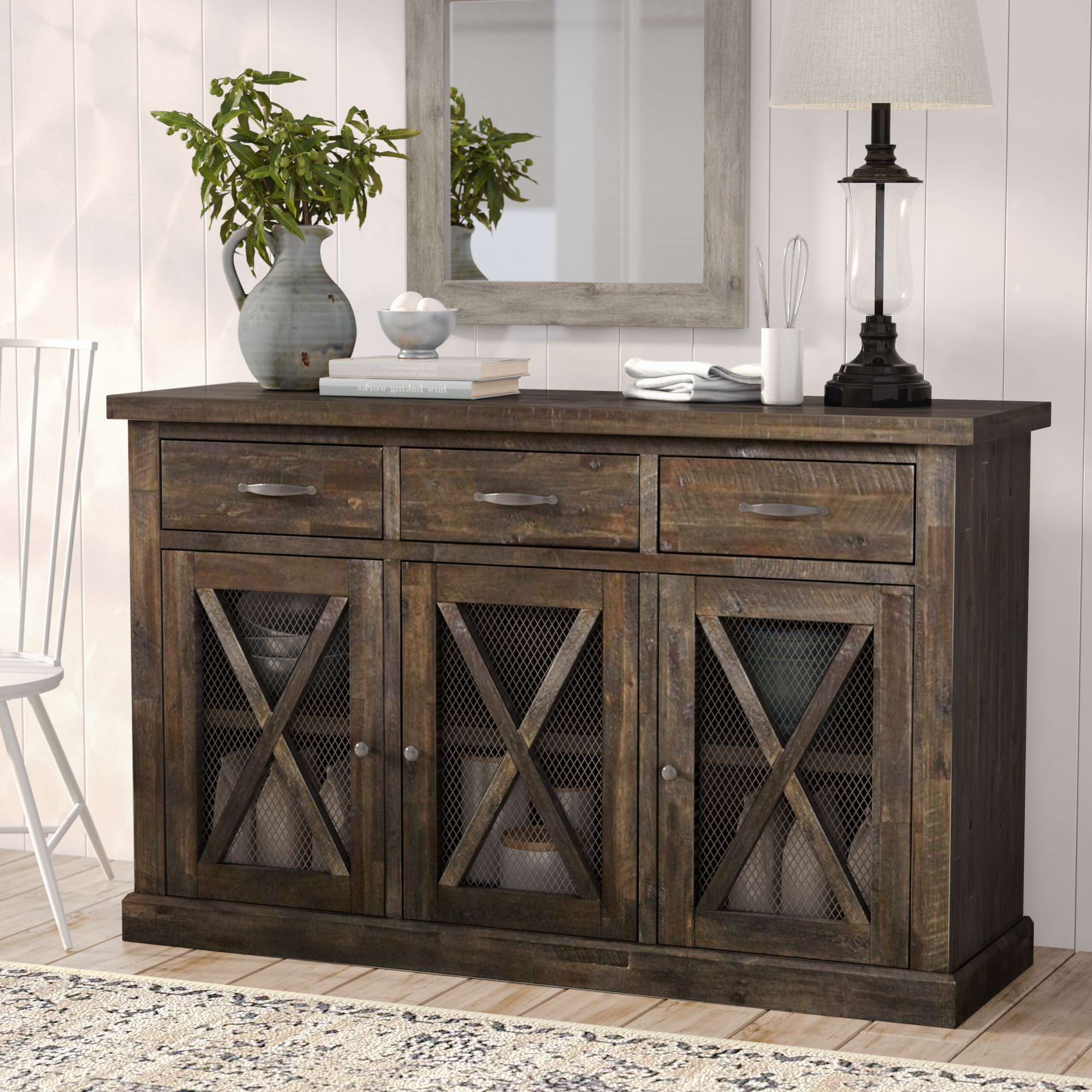 Weathered Grey Buffet | Wayfair With Regard To Contemporary Distressed Grey Buffets (View 20 of 20)