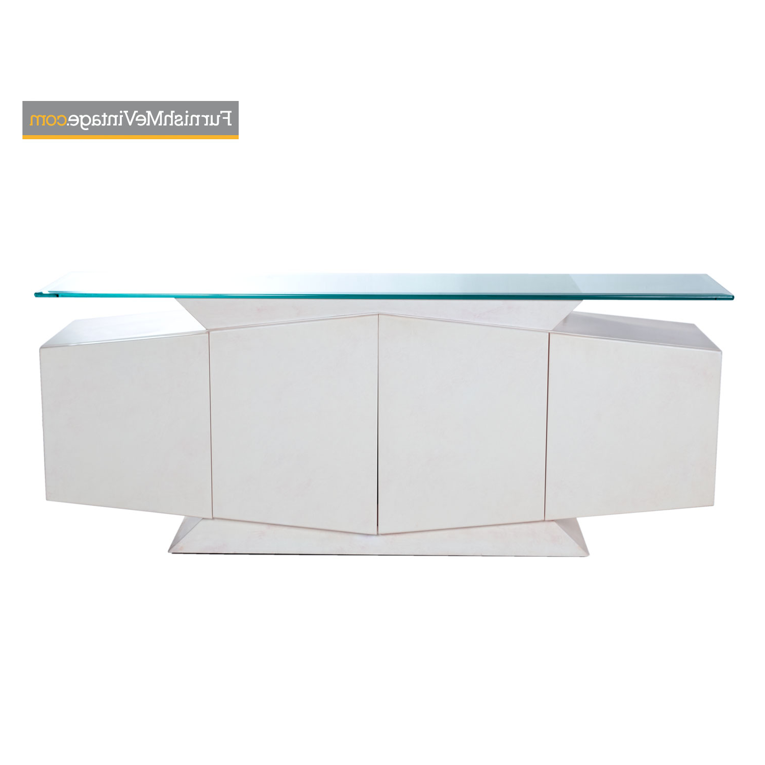 White And Pink Lacquer Postmodern Memphis Style Glass Top Credenza With Blush Deco Credenzas (View 20 of 20)