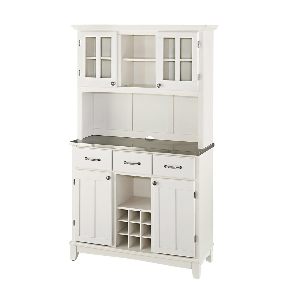 White Buffet With Hutch With Black Hutch Buffets With Stainless Top (View 5 of 20)