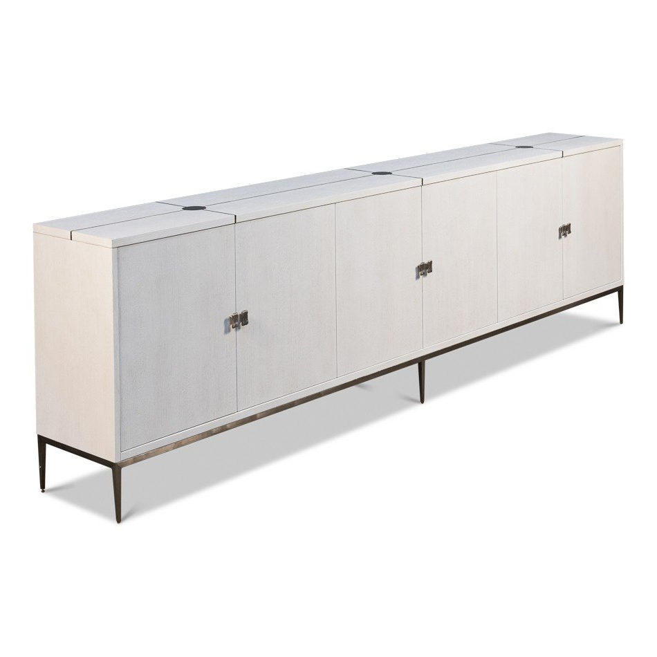 White Long Parisian Mid Century Buffet Within Mid Century White Buffets (View 20 of 20)
