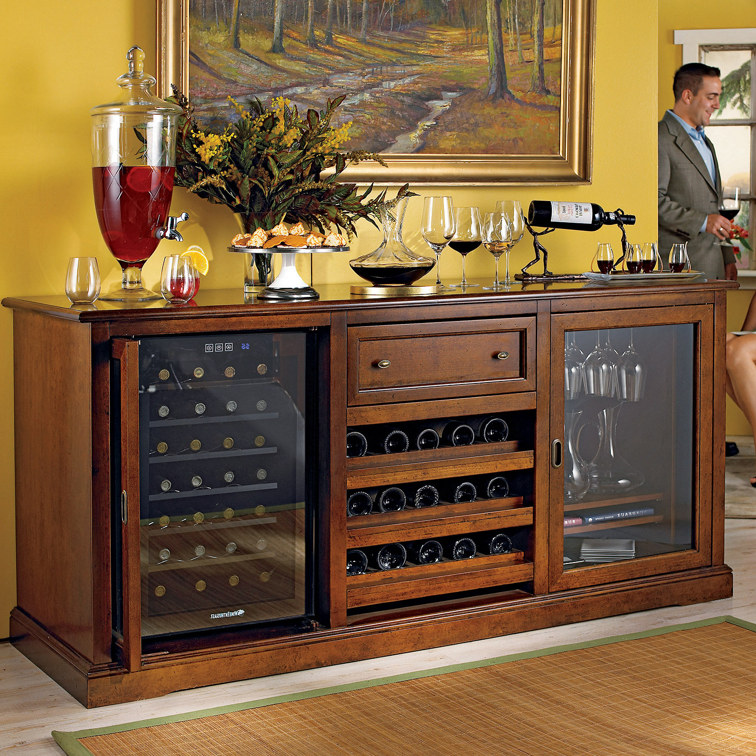 Wine Bar Furniture : The Lucky Design – Good Wine Fridge With Contemporary Wine Bar Buffets (View 20 of 20)