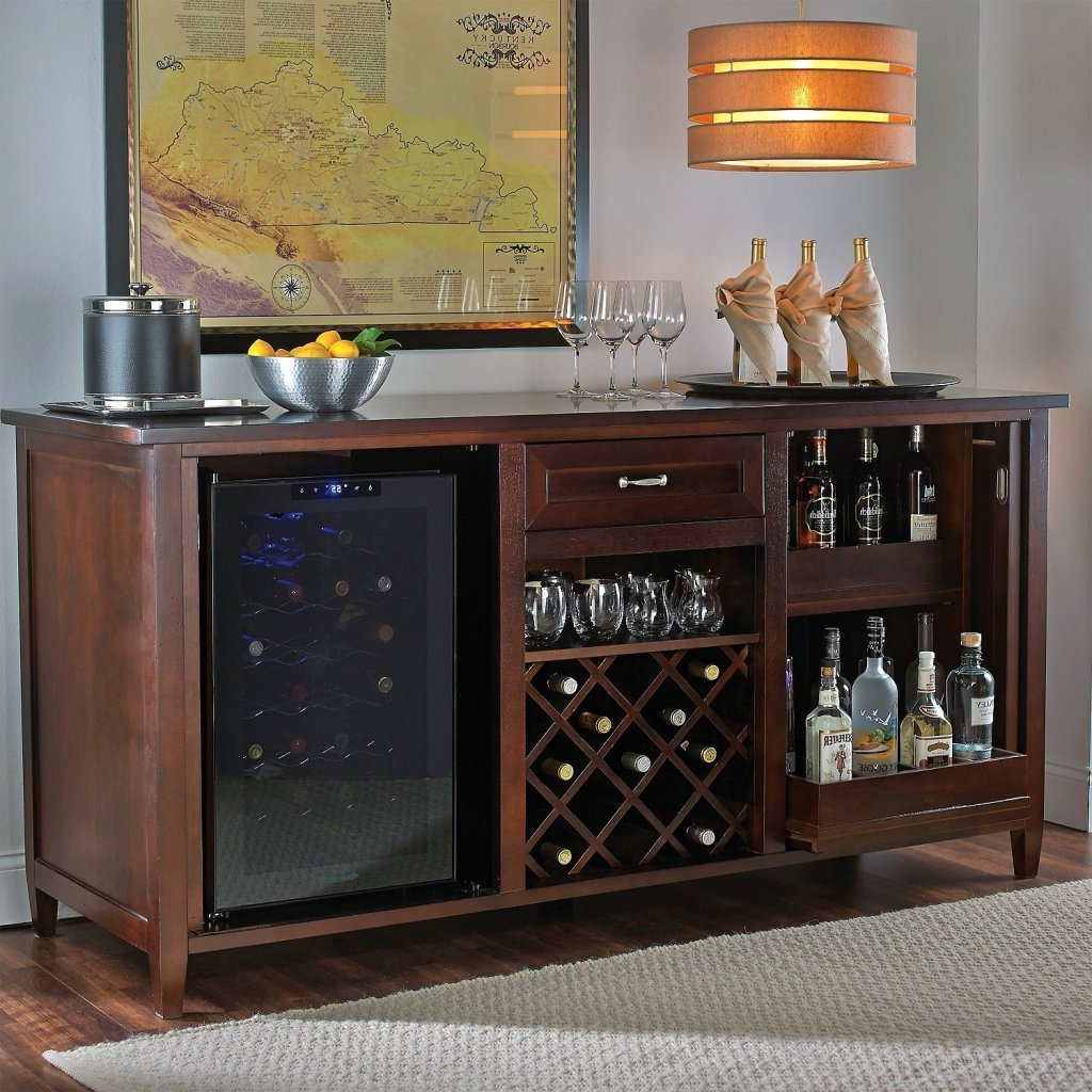 Wine Credenza With Refrigerator – Clashroyale (View 18 of 20)