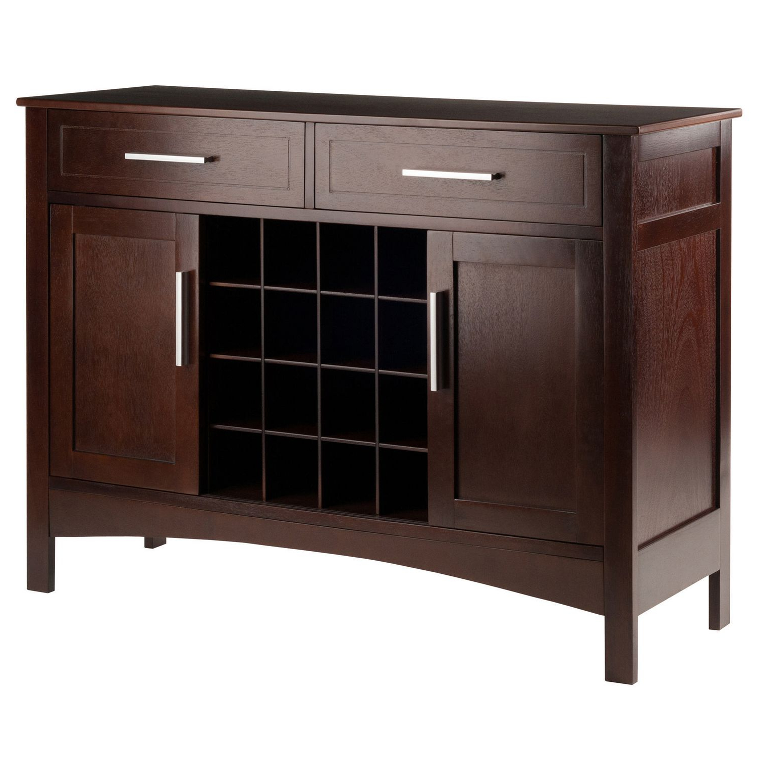 Winsome Gordon Buffet Cabinet/sideboard Cappuccino Finish Within Contemporary Cappuccino Buffets (View 20 of 20)