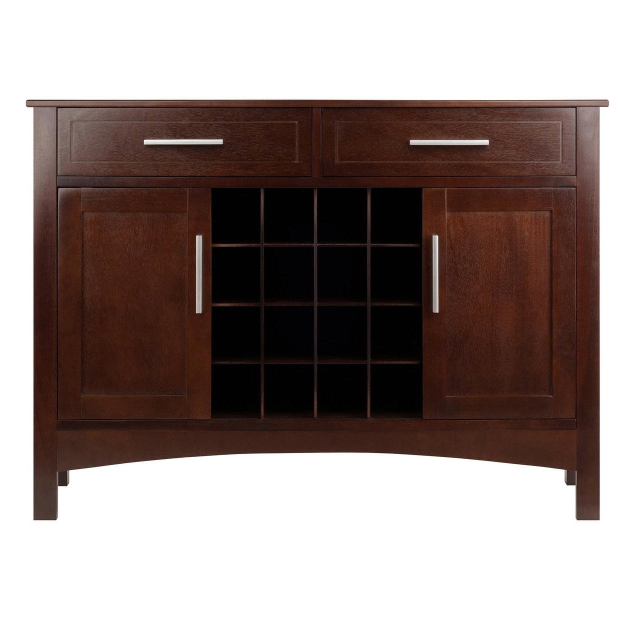 Winsome Gordon Solid And Composite Wood Buffet Cabinet/sideboard In Cappuccino Finish With Solid And Composite Wood Buffets In Cappuccino Finish (View 2 of 20)