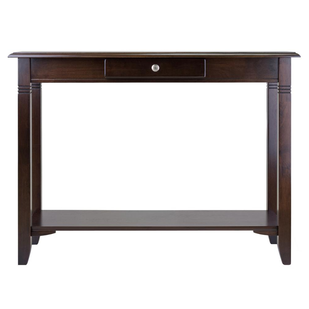 Winsome Wood Nolan Cappuccino Console Table 40640 – The Home Within Solid And Composite Wood Buffets In Cappuccino Finish (View 14 of 20)