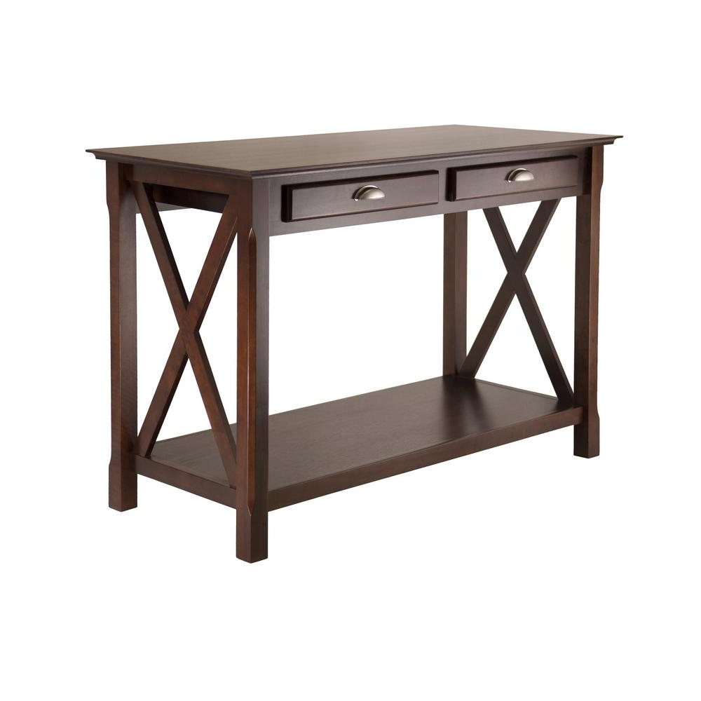 Winsome Wood Xola Cappuccino Console Table 40544 – The Home With Solid And Composite Wood Buffets In Cappuccino Finish (View 18 of 20)