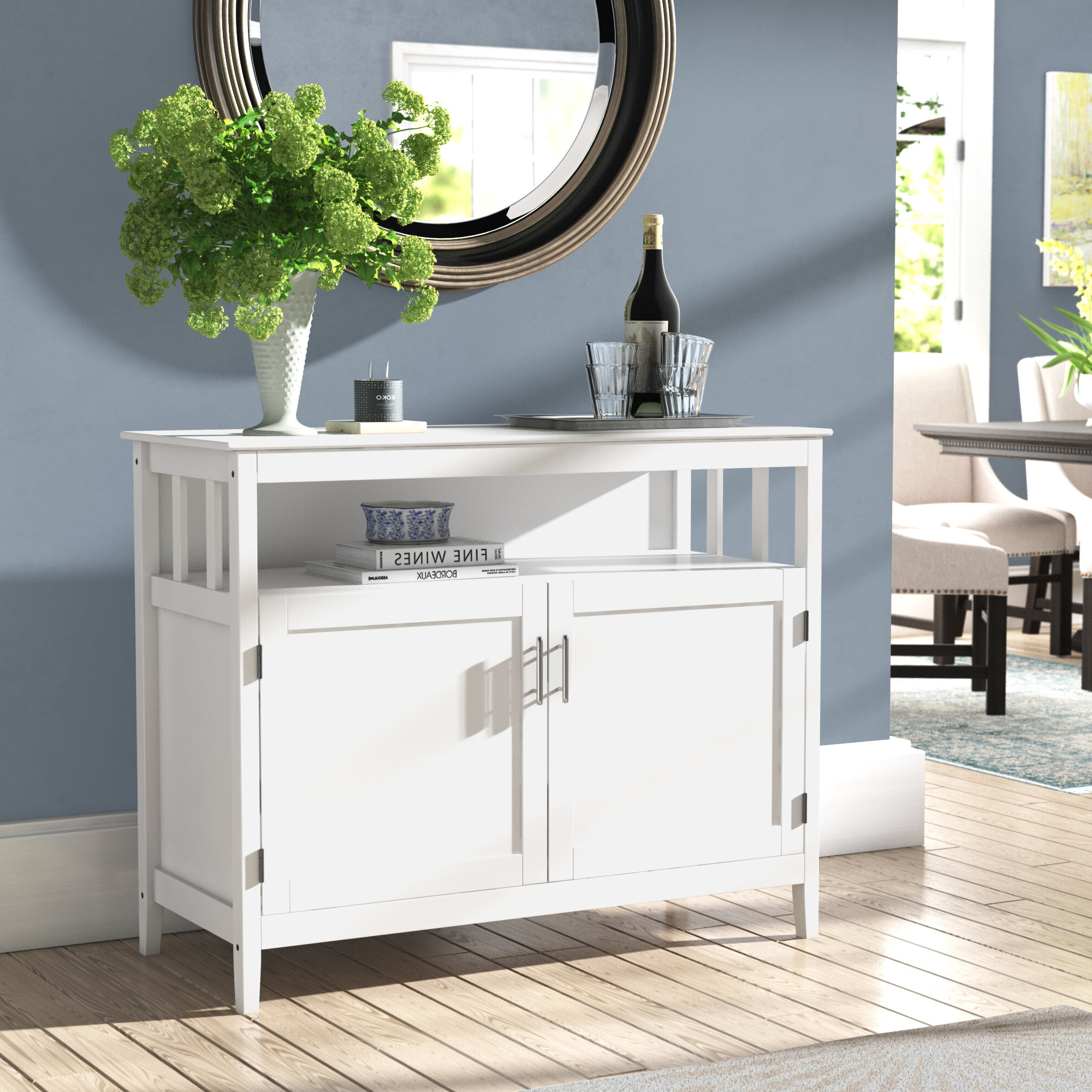Winston Porter Bellbrook Sideboard Buffet Table & Reviews With Regard To Simple Living Montego Two Door Buffets (View 19 of 20)