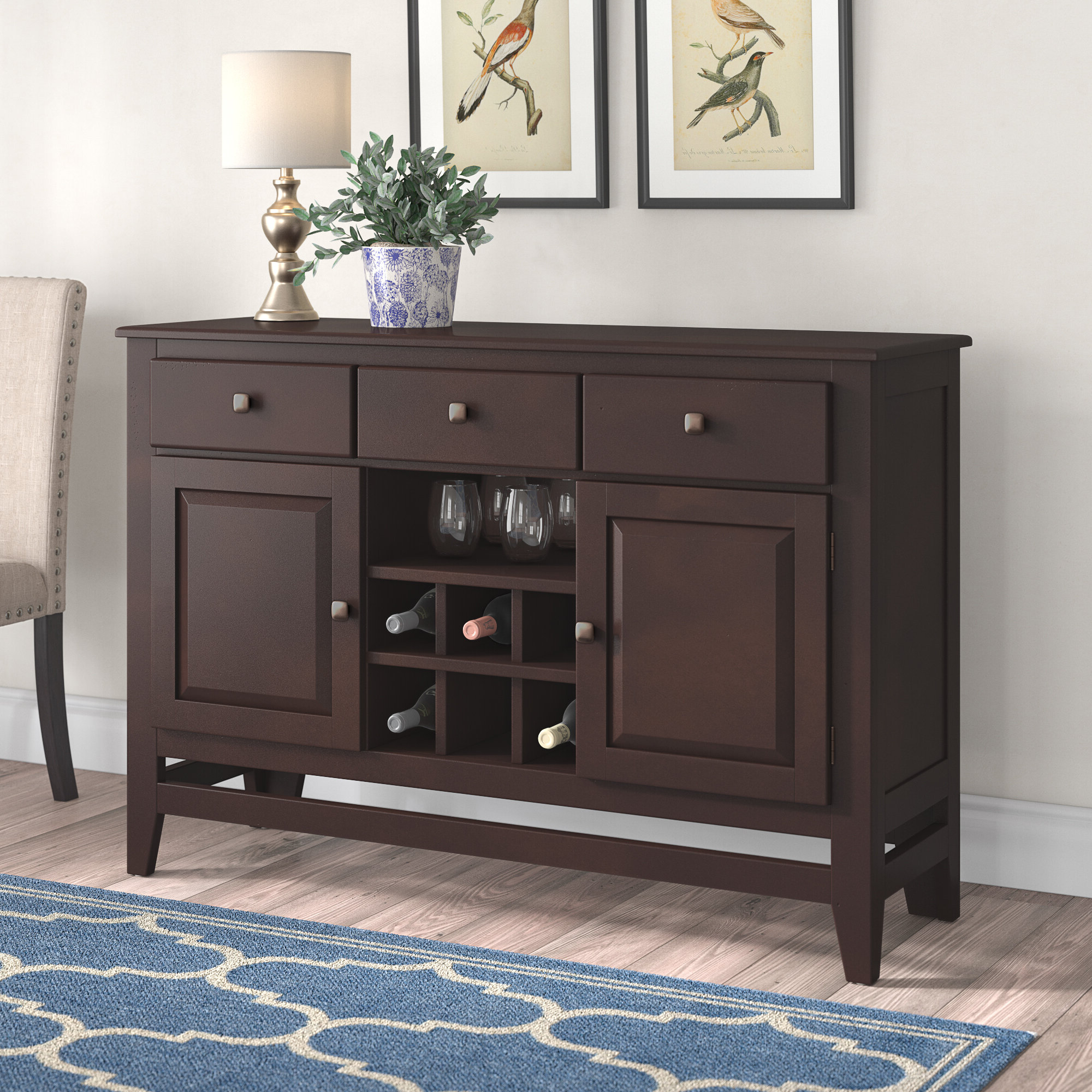 Wynwood Sideboard Intended For Solid And Composite Wood Buffets In Cappuccino Finish (View 6 of 20)