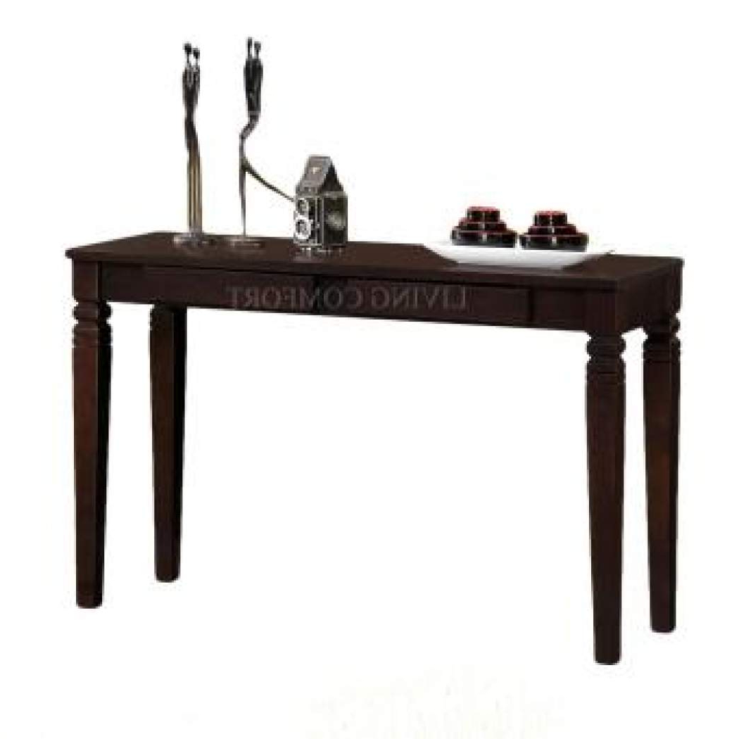 Zen Solid Wood Console Table With Drawers (cappuccino) Pertaining To Solid And Composite Wood Buffets In Cappuccino Finish (View 20 of 20)