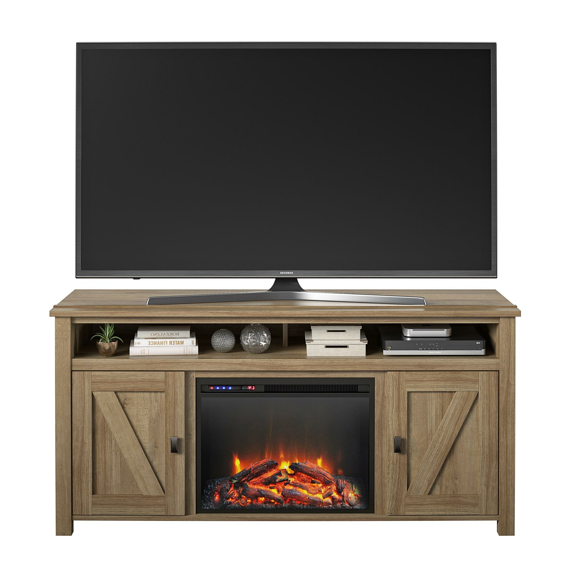 """Kohn Tv Stand For Tvs Up To 65"""" With Electric Fireplace Included Pertaining To Eutropios Tv Stand With Electric Fireplace Included (View 15 of 20)"""