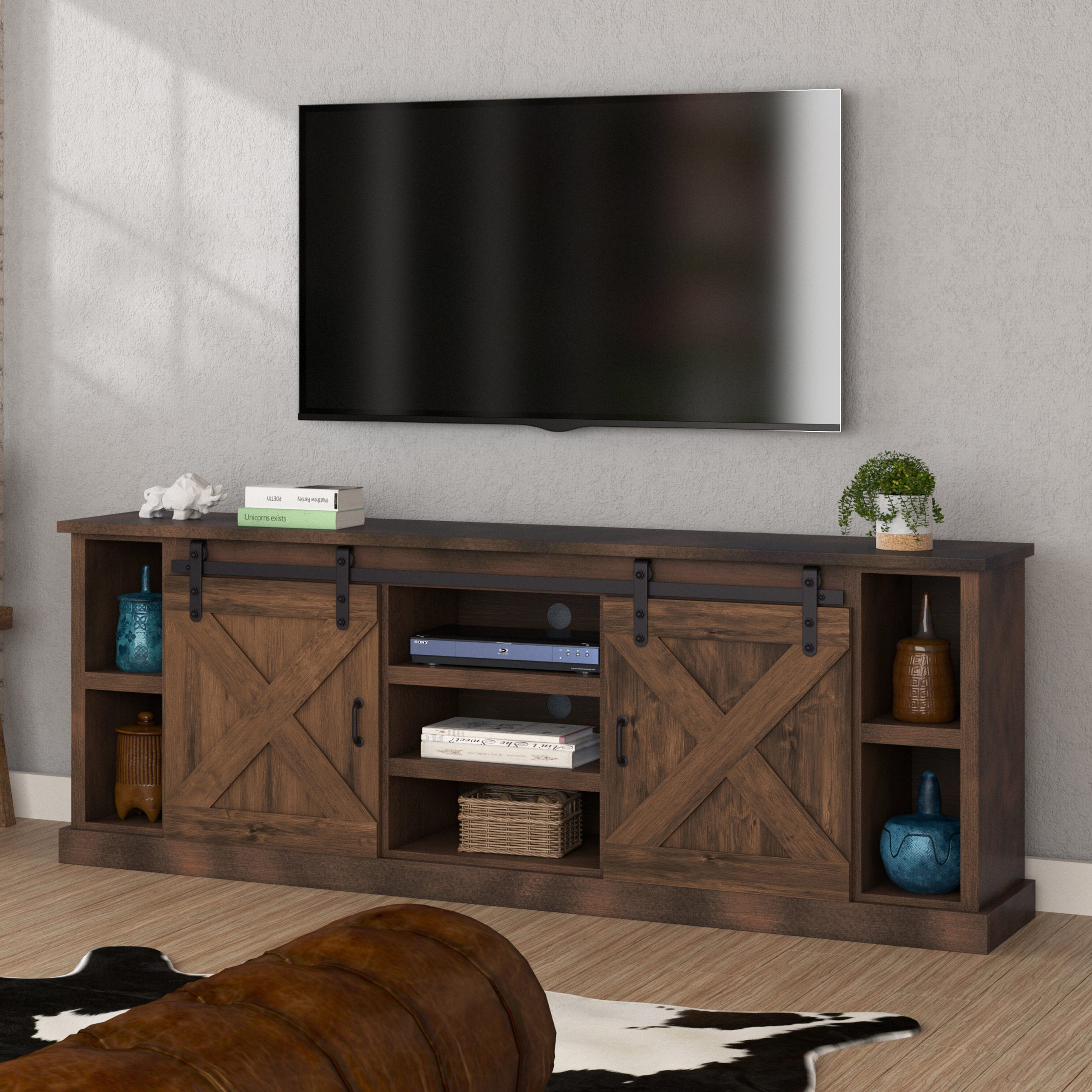 """Lorraine Tv Stand For Tvs Up To 60"""" Inside Eutropios Tv Stand With Electric Fireplace Included (View 8 of 20)"""