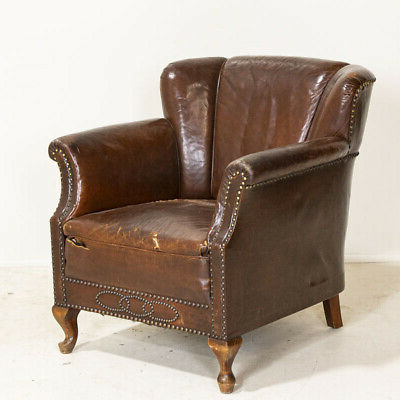 1900 1950 – Leather Club Chair – Vatican Within Montenegro Faux Leather Club Chairs (View 15 of 20)