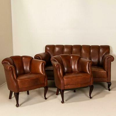 1900 1950 – Vintage Chair – Vatican Intended For Starks Tufted Fabric Chesterfield Chair And Ottoman Sets (View 13 of 20)