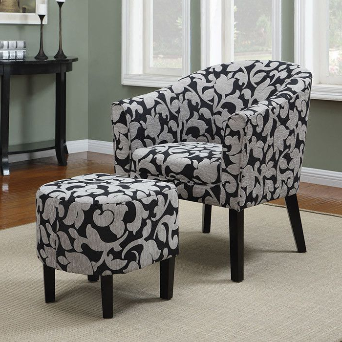 2 Piece Carrie Arm Chair & Ottoman Set | Chair And Ottoman Throughout Abbottsmoor Barrel Chair And Ottoman Sets (View 19 of 20)