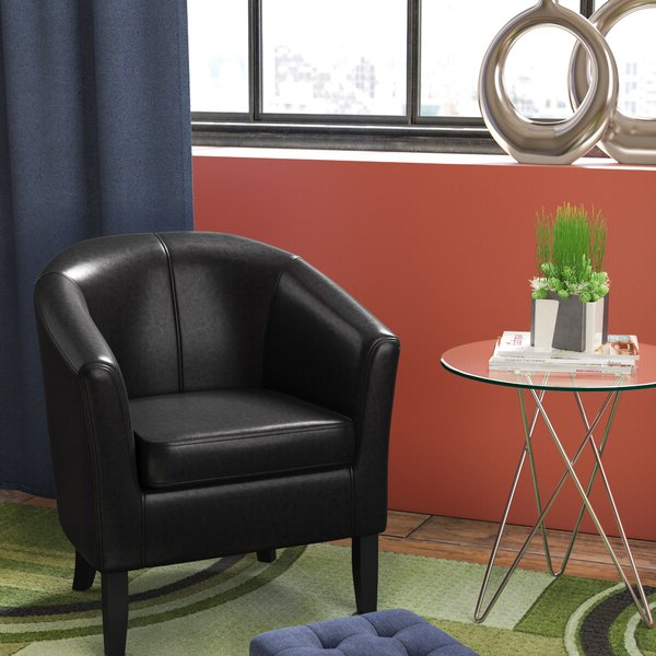 26 Inch Chair Within Coomer Faux Leather Barrel Chairs (View 6 of 20)