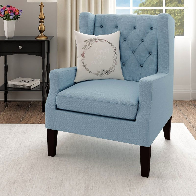 27 Best Wingback Accent Chair Ideas   Décor Outline Throughout Allis Tufted Polyester Blend Wingback Chairs (View 6 of 20)