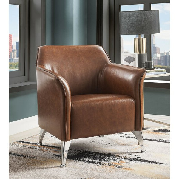 """31"""" W Faux Leather Armchair With Regard To Jarin Faux Leather Armchairs (View 5 of 20)"""