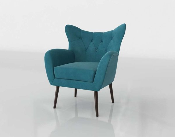 3d Bouck Wingback Chair Wayfair // Glancing Eye Intended For Bouck Wingback Chairs (View 17 of 20)