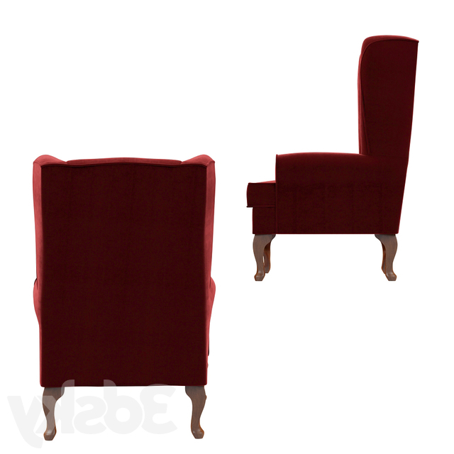 3d Models: Arm Chair – Louisburg Armchair Pertaining To Louisburg Armchairs (View 10 of 20)