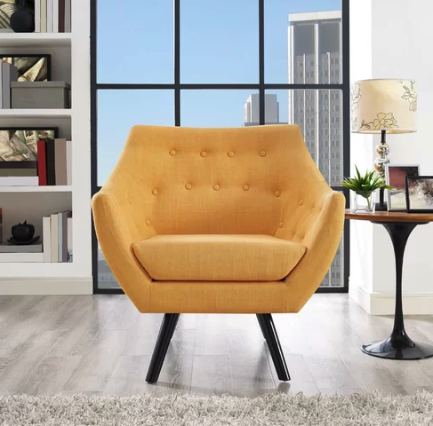 6 Mustard Yellow Accent Chairs For Stylish Homes – Cute For Giguere Barrel Chairs (View 3 of 20)