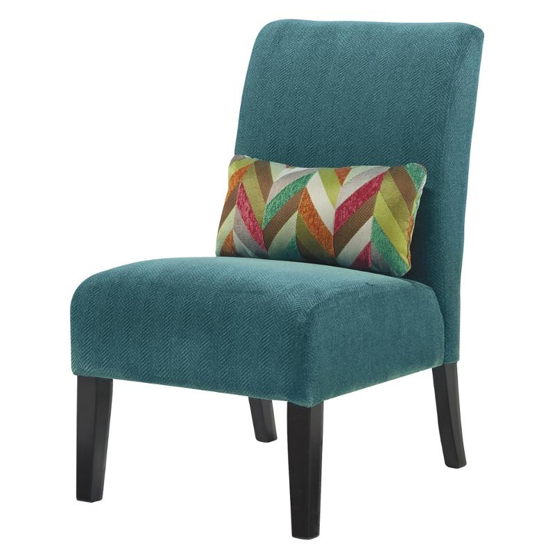 6160460 Ashley Furniture Annora – Teal Accent Chair For Goodyear Slipper Chairs (View 6 of 20)
