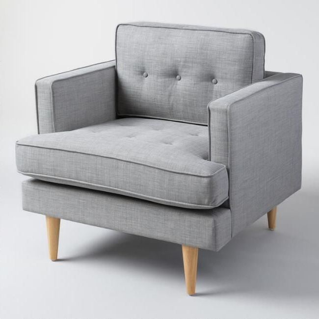 A Clean Silhouette, Tufted Detailing And Tapered Danish Throughout Hiltz Armchairs (View 2 of 20)