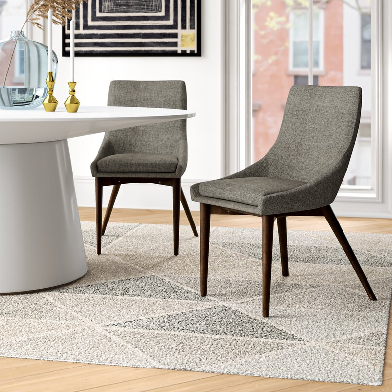 Aaliyah Cotton Upholstered Side Chair In Gray In Aaliyah Parsons Chairs (View 5 of 20)